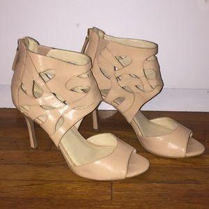 Cute leather Nine West heels sz 9M!